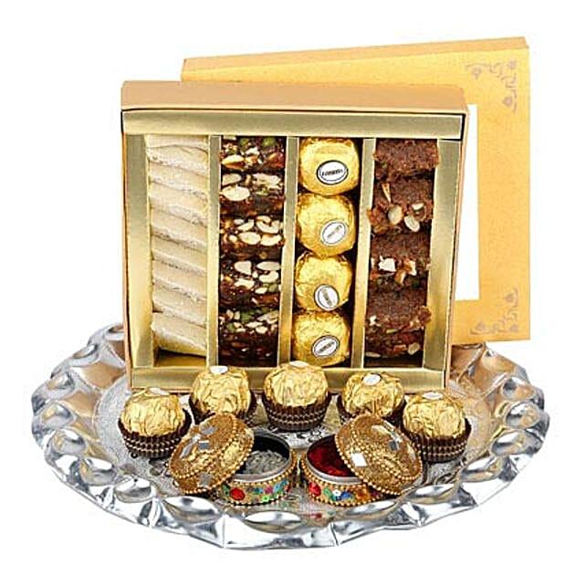 Bhai Dooj Thali with Sweets