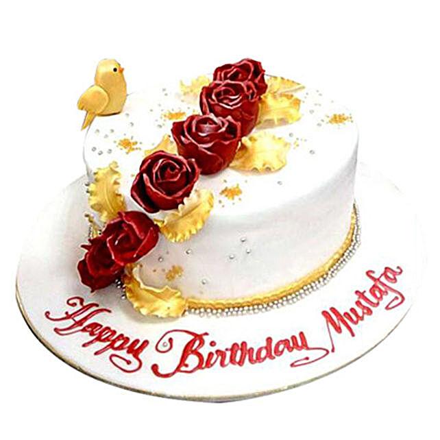 Birdie N Roses Cake