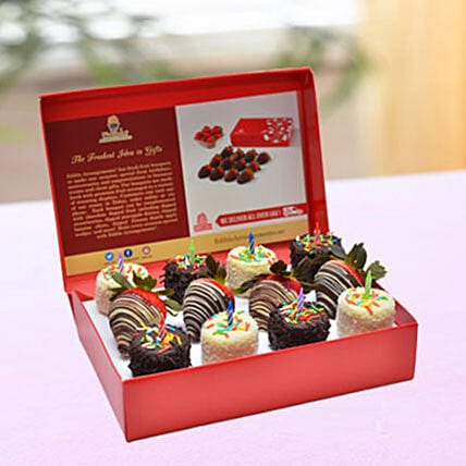 Birthday Wishes Dipped Fruit Box