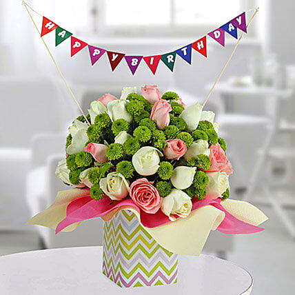 Colorful Birthday Flower Arrangement