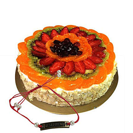 Fruit Cake with Rakhi 1
