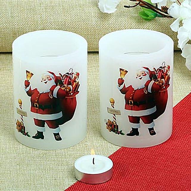 Happy Santa Candles