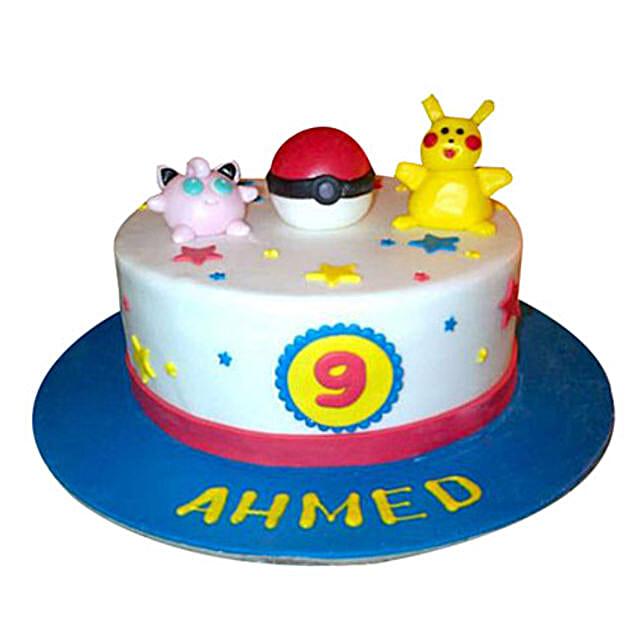 Jigglypuff N Pikachu cake