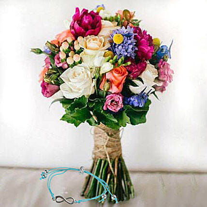 Mix Flowers with Friendship Band