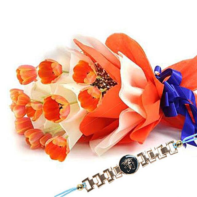 Orange Tulip with Friendship Band