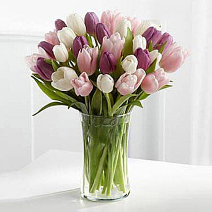 Painted Skies Tulip Bouquet Premium