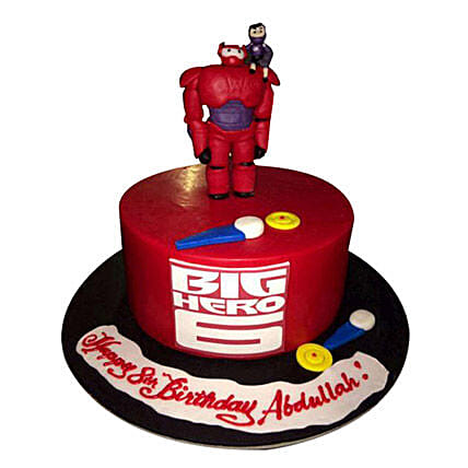 Red Big Hero Cake