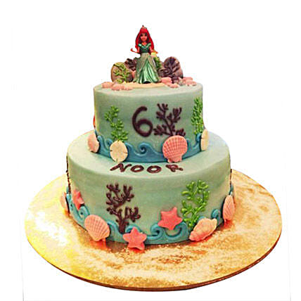 Red haired Princess Cake