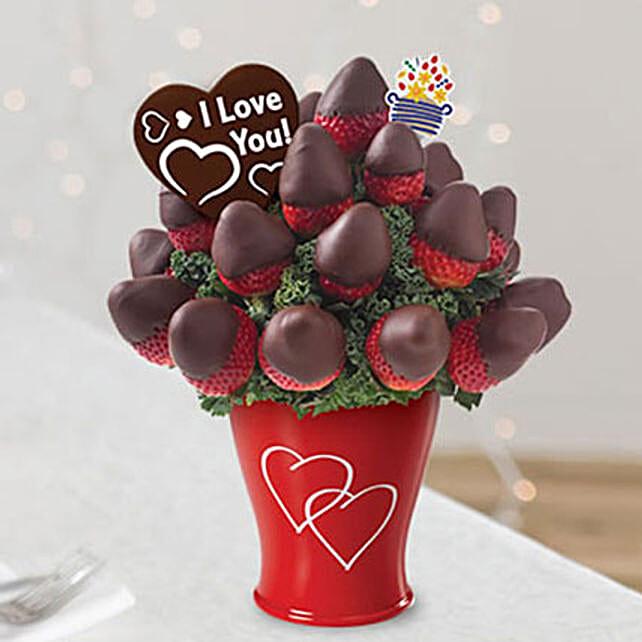 Sweetheart Bouquet with Belgian Chocolate Pop