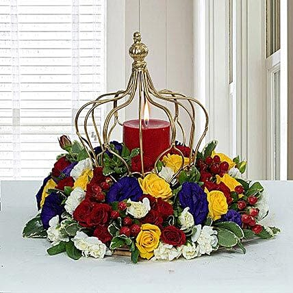 Tempting Centertable Flower Arrangement