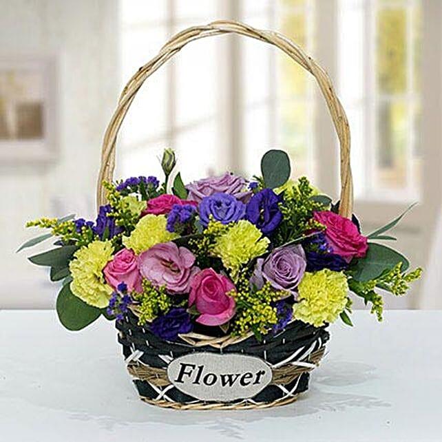 Vibrant Flower Basket