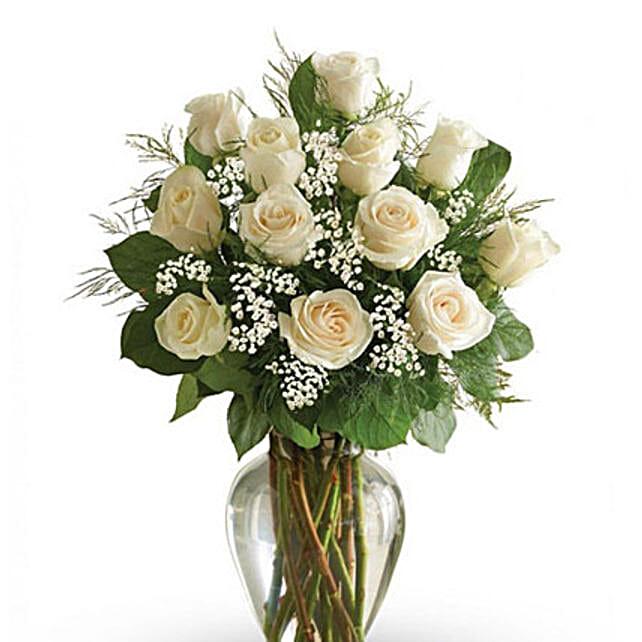 White Roses Arrangement 12