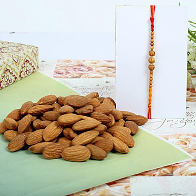 Almond nuts with Sandal Rakhi