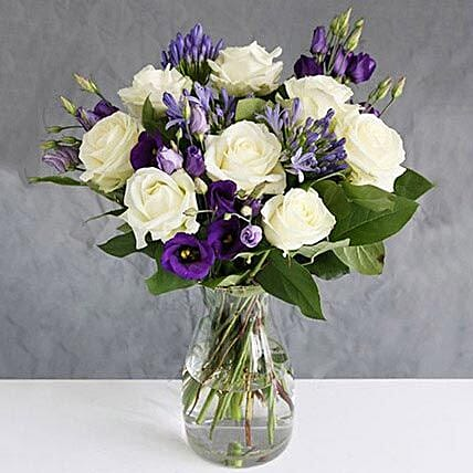 Avalanche Roses n Lisianthus