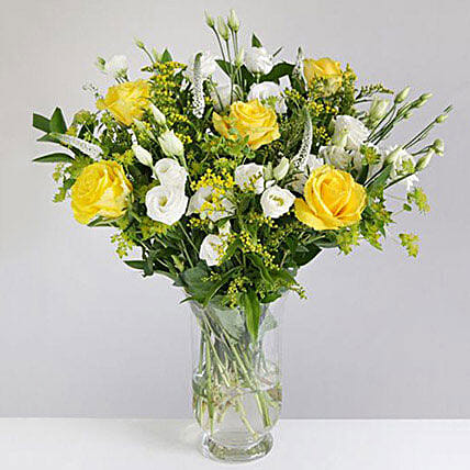 Golden Rose and Lisianthus
