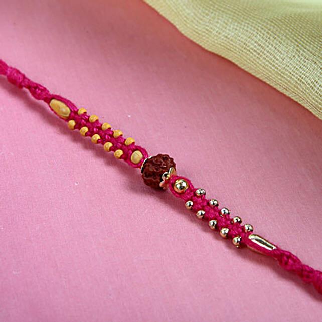 Rudraksh on Pink Thread
