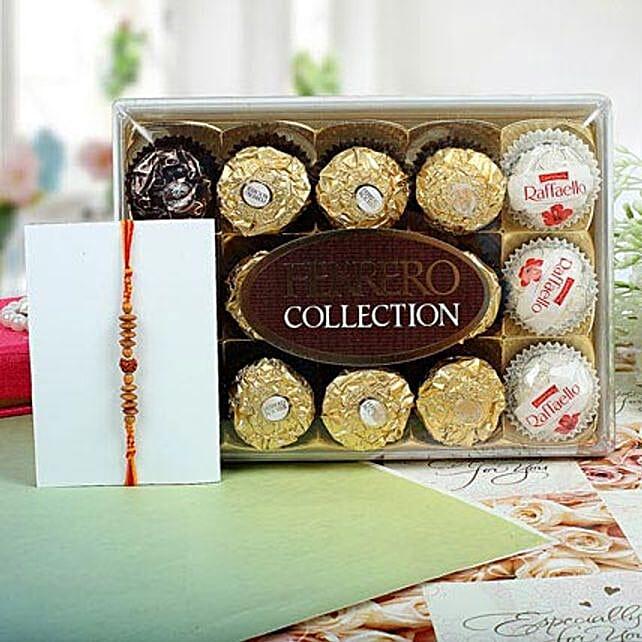 Sandalwood Ferrero Rocher Rakhi Hamper