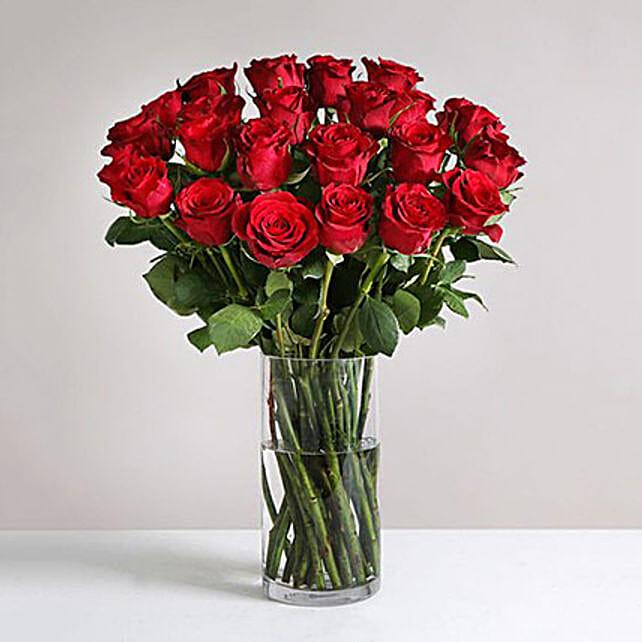 Two Dozen Burgundy Roses