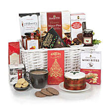 Send gift hampers to uk with free shipping ferns n petals white christmas hamper gift baskets in london uk negle Gallery