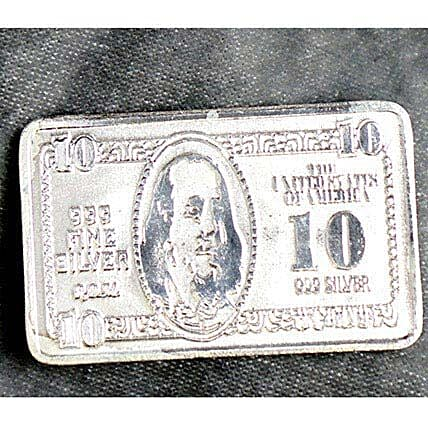 10 Gram Pure Silver 10 Bill Biscuit