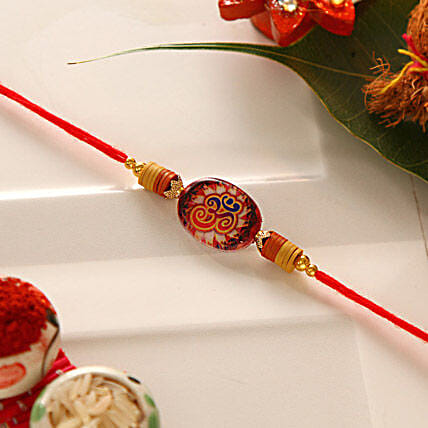 Alluring Om Rakhi Thread