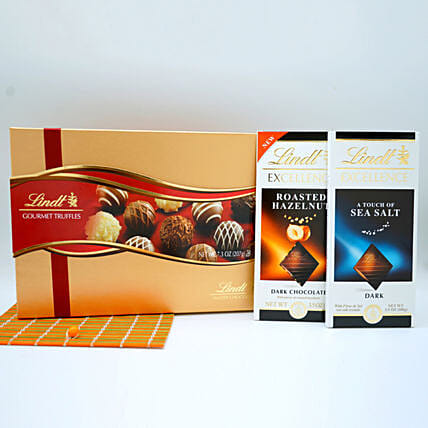 Send easter gifts to usa online easter gift delivery in usa assorted lindt chocolates basket send easter gifts for usa negle Choice Image