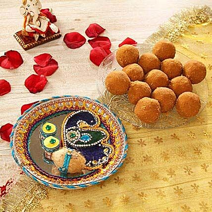 Bhai Dooj Thali with Besan Laddoo
