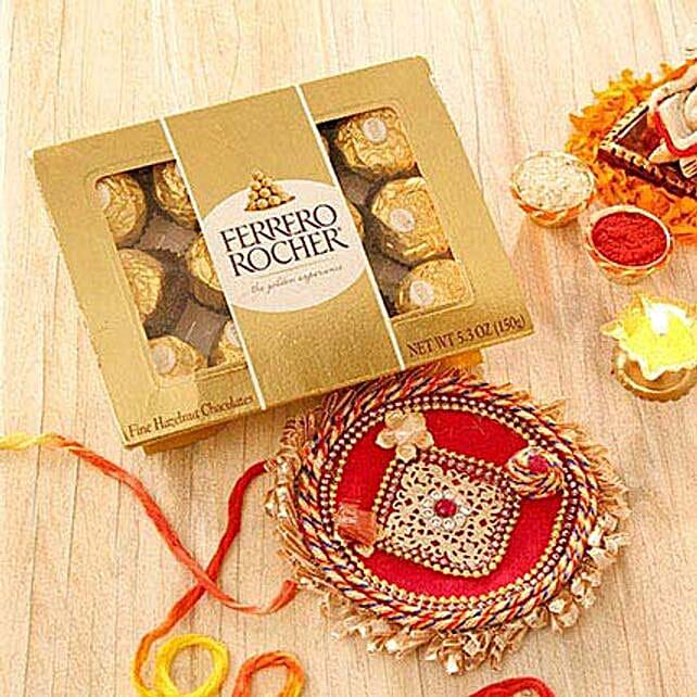 Bhaidooj Tikka Thali with Ferrero Rocher