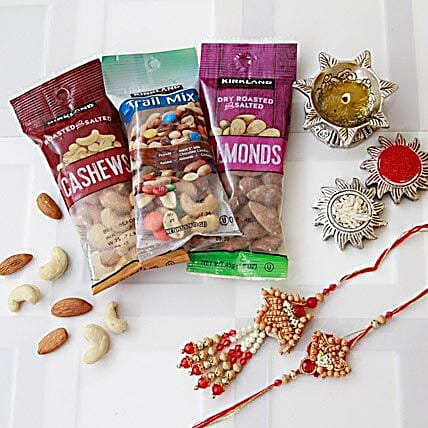 Image result for rakhi with dry fruits