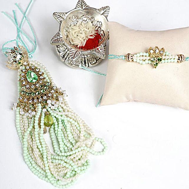 Bunch of Beads Bhaiya Bhabhi RakhiSet