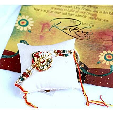 Charming Beads Thread Rakhi