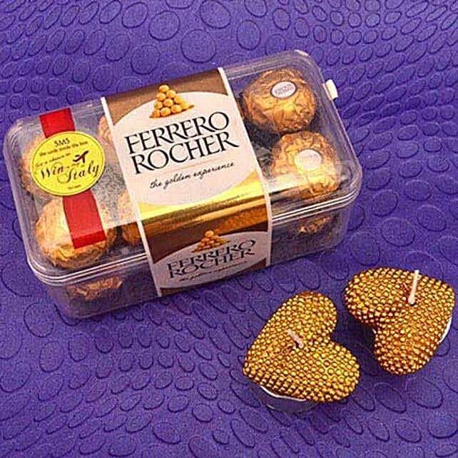 Chocolates N Heart Candles