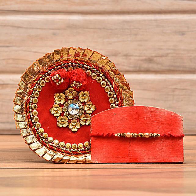 Decorative Rakhi With Puja Thali