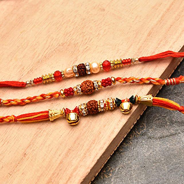 Elegant Rakhi Threads Set of Three