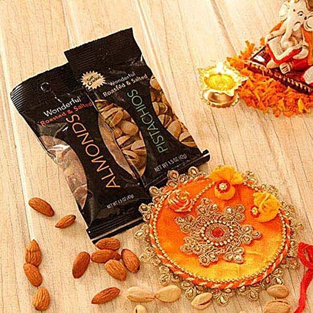 Embellished Bhaidooj Tikka with Assorted Dry Fruits
