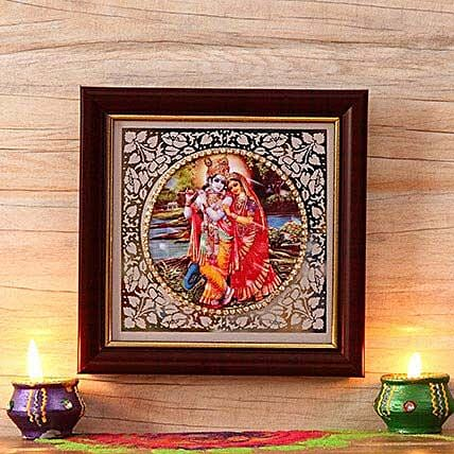 Extraordinary Fiber Radha Krishna Frame