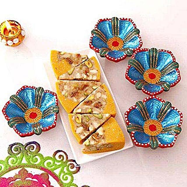 Flowery N Healthy Diwali Wish
