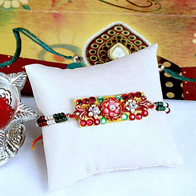 Glittering Stonework Rakhi Thread