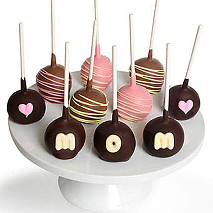 Mothers Day Chocolate Covered Cake Pops