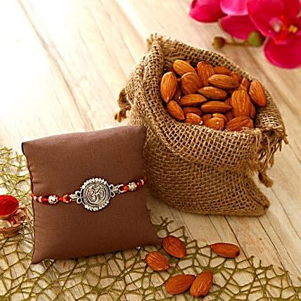 Om Dial Rakhi with Almonds
