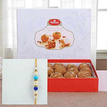 Rakhi with Panjeeri laddu