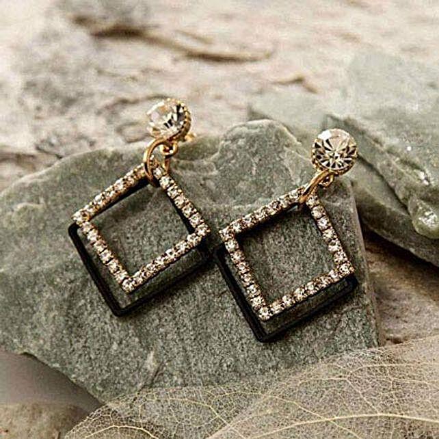 Rhombus Stone Earring