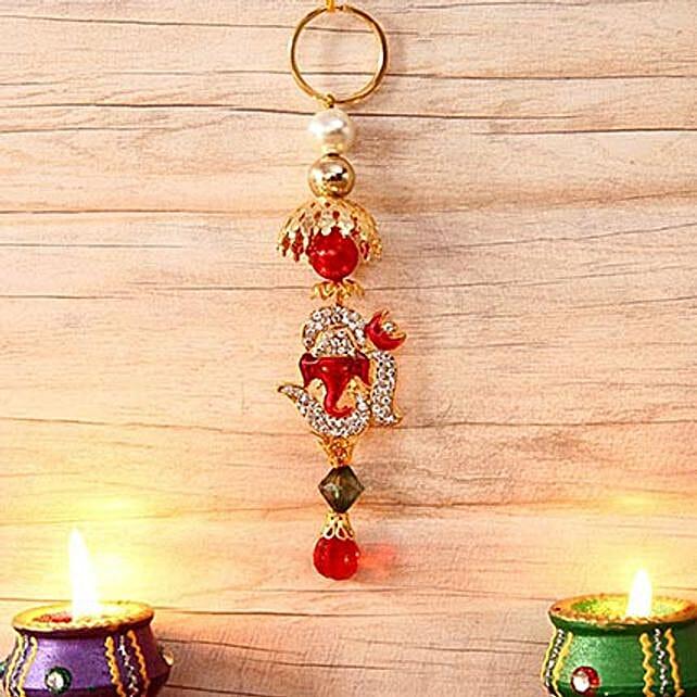 Stone Studded Hanging Ganesha