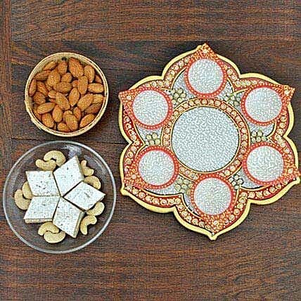 Sweets Nuts In Marble Thali