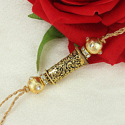 Beauty Of Bond Antique Rakhi VIE