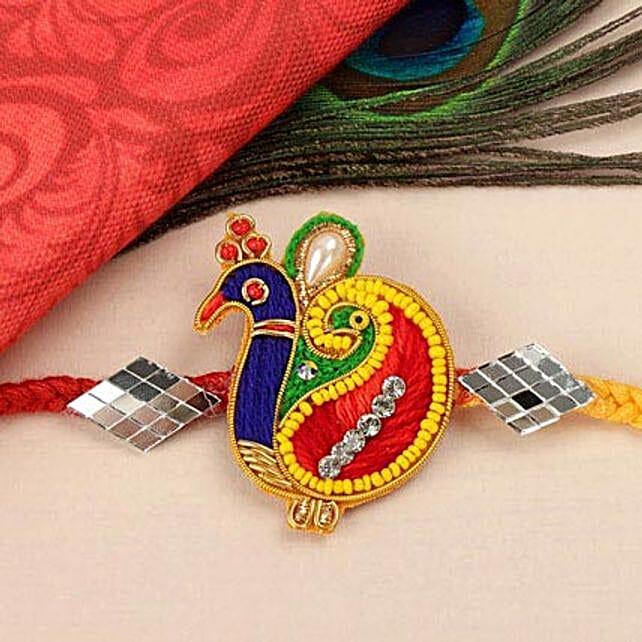 Mirror Peacock Rakhi WES